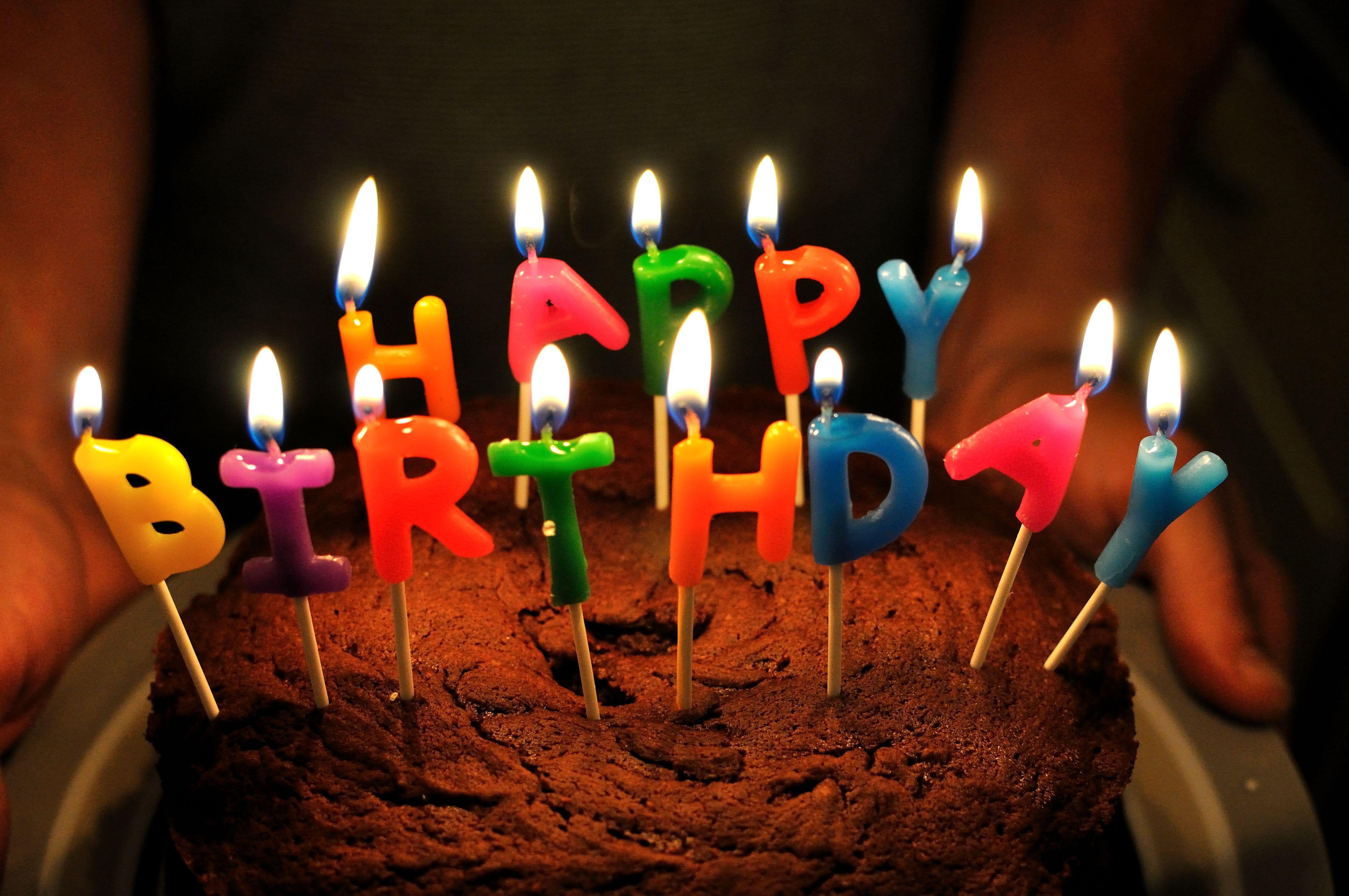Картинка с тортом день рождения, поздравления новая