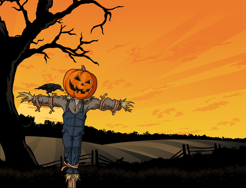 Pumpkin Head Drawing Head of The Pumpkin