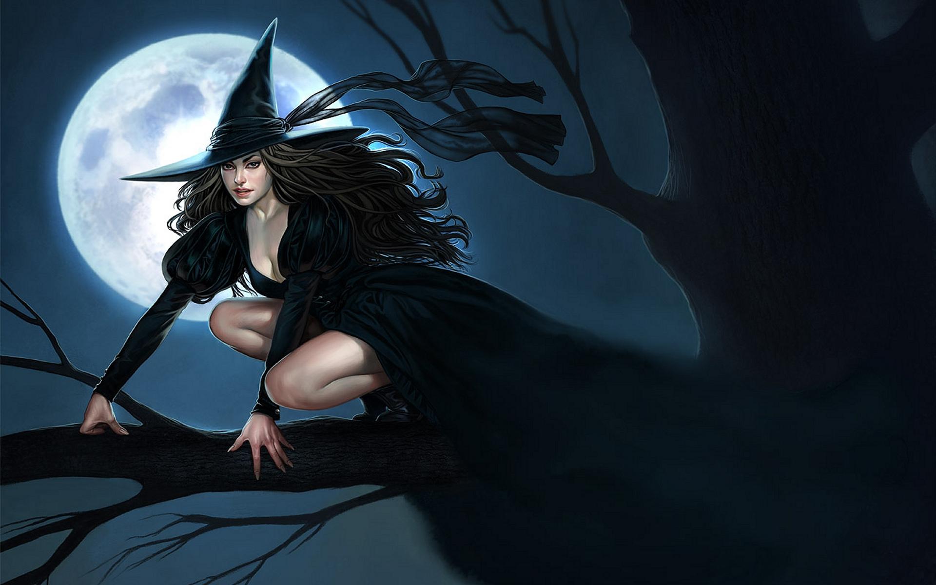 Красивая ведьма на аву - 9081