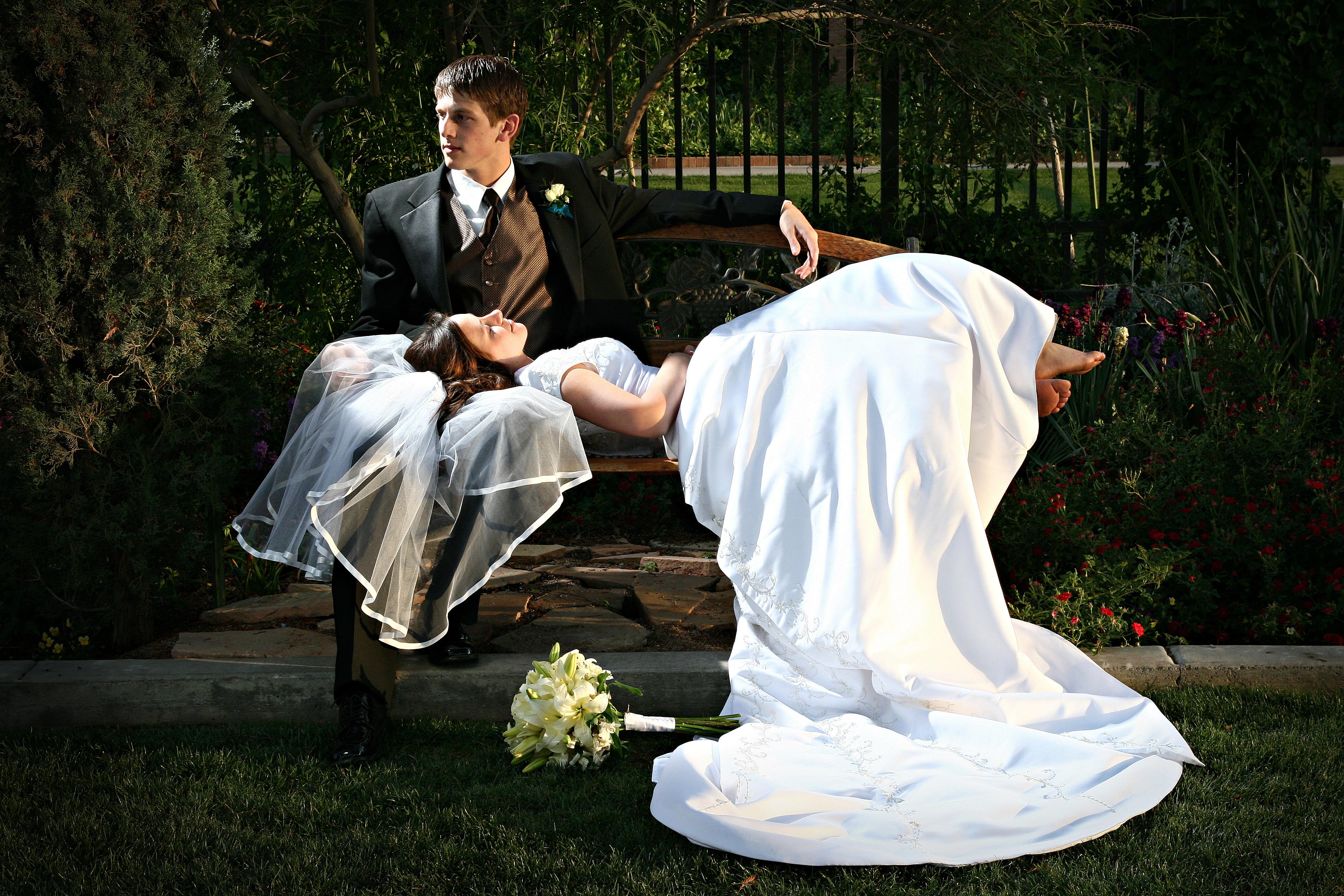 Креативные фото со свадьбы