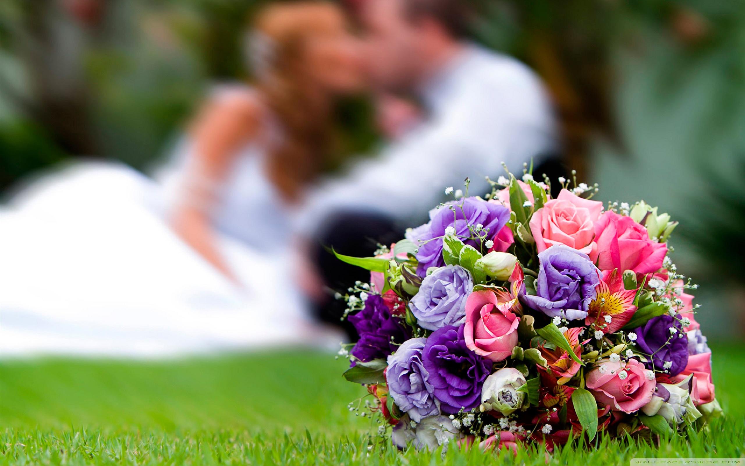 Свадебный букет - фото обои на рабочий стол, картинки с букетами
