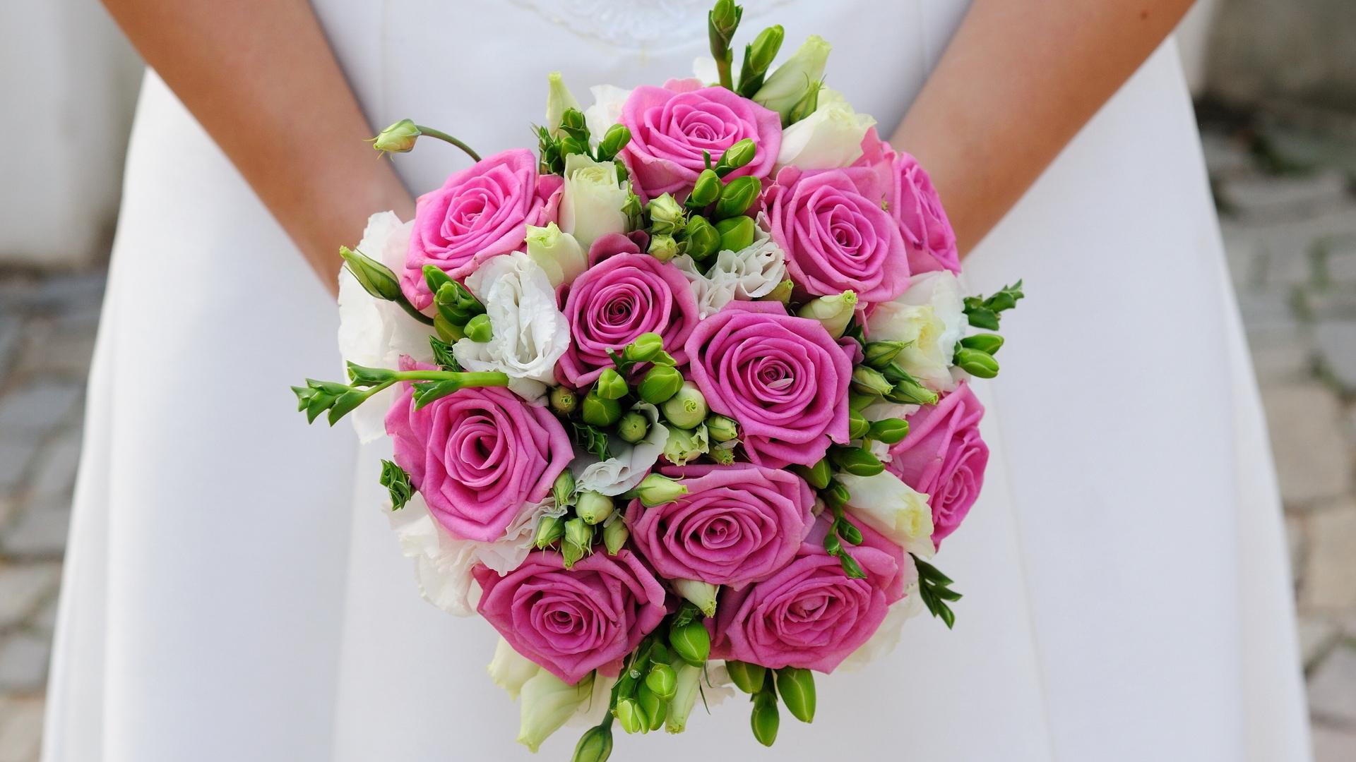 Какого цвета розы выбрать для букет невесты, букет магазин