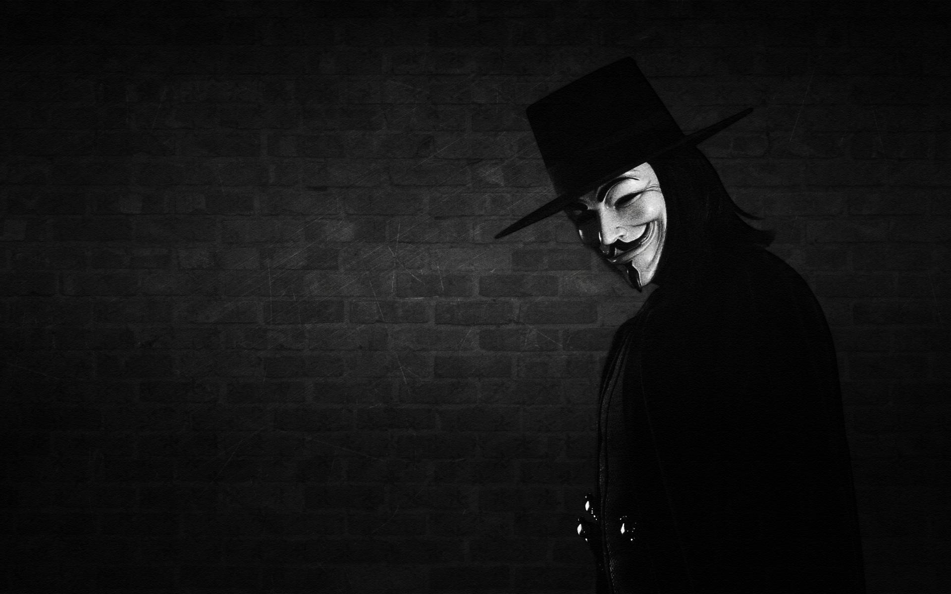 V For Vendetta Wallpaper for vendetta, mask, ha...