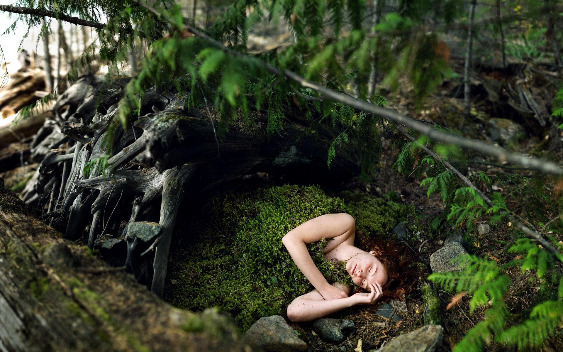 Fantastic Wallpaper Forest Girl - Nature___Forest_Girl_sleeping_in_moss_042540_  Gallery_248540 .jpg