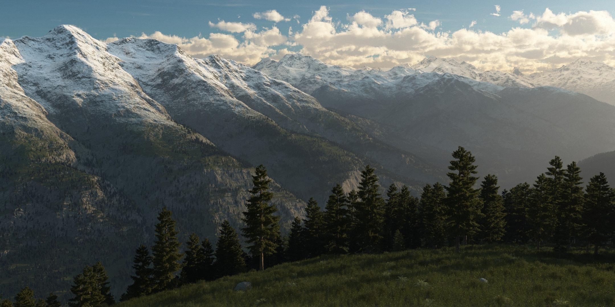 mountain ridge landscap eye - HD1600×1000