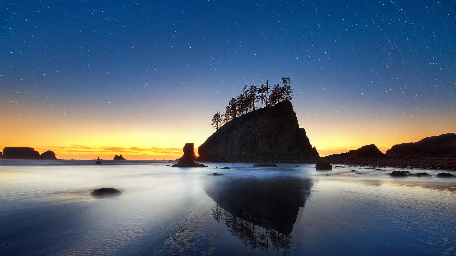 Обои звездное небо на закате