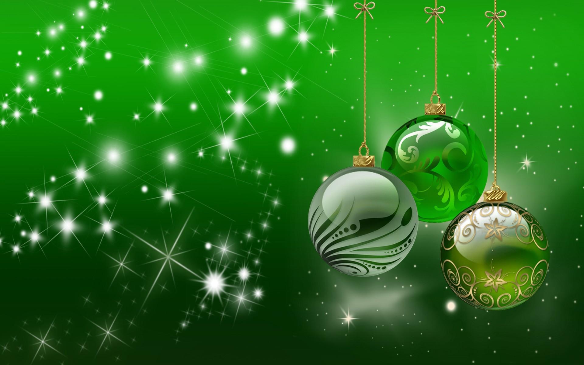Новогодний зеленый фон для открытки