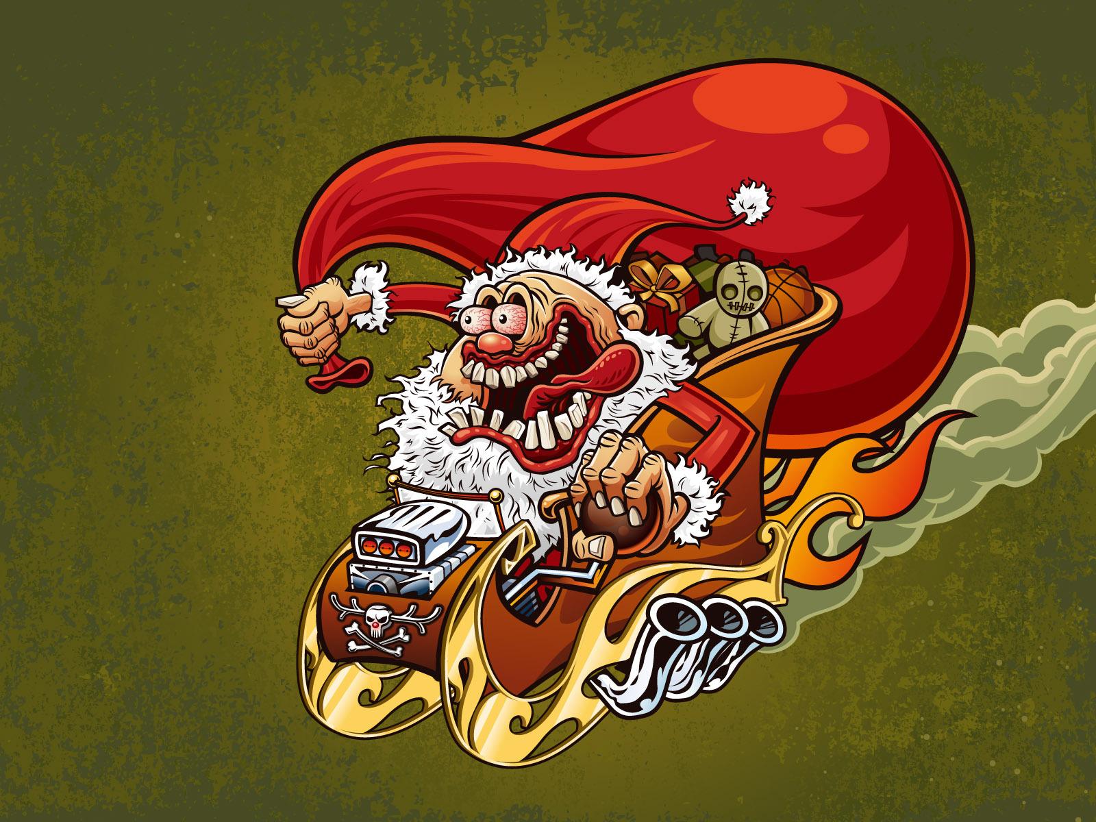 Дед мороз смешная картинка, открытка
