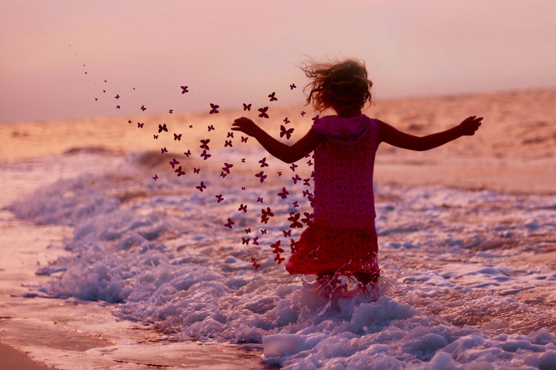 little girl butterfly wallpapers -#main