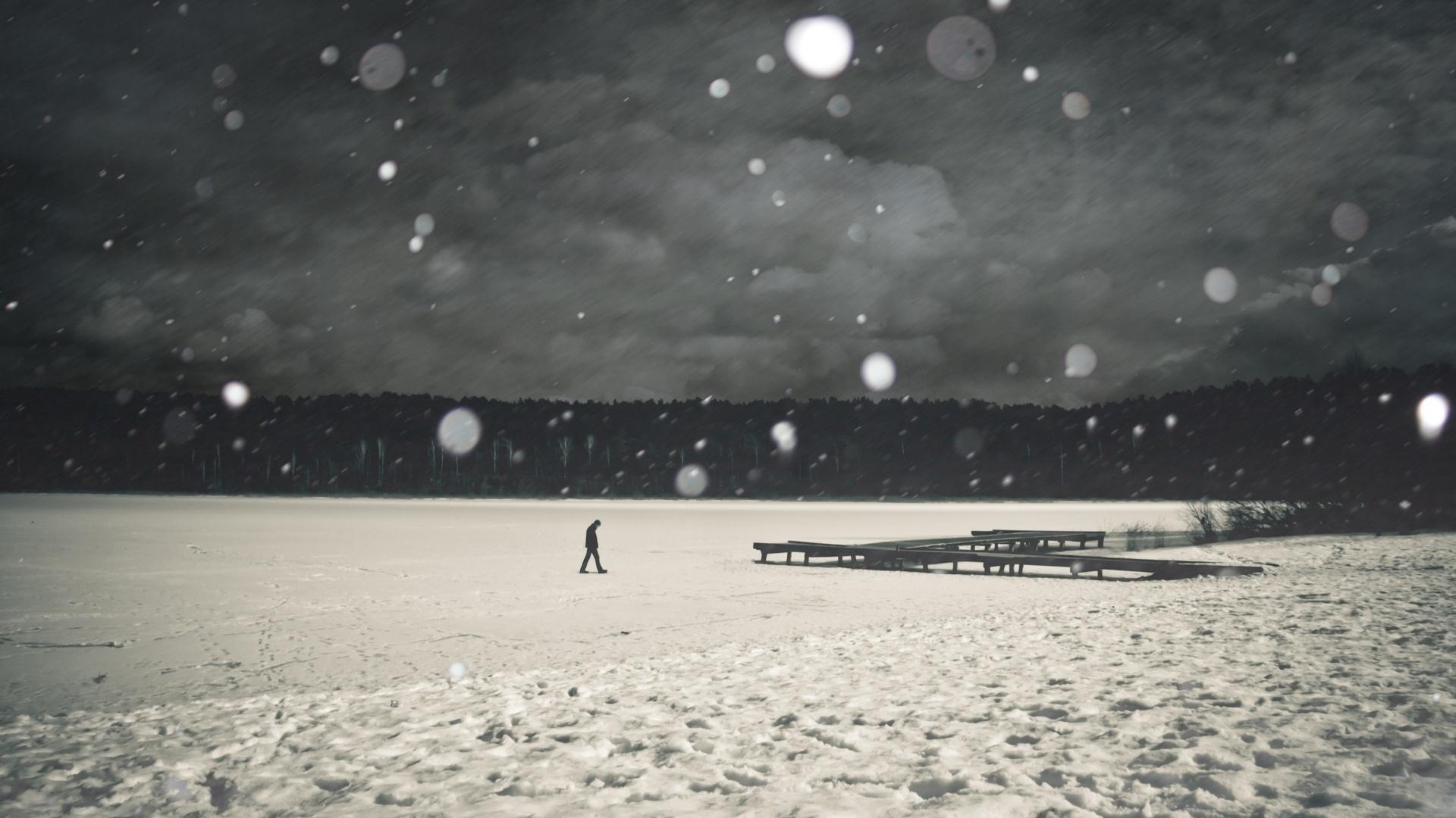 прислал картинка одиночество снег скептически