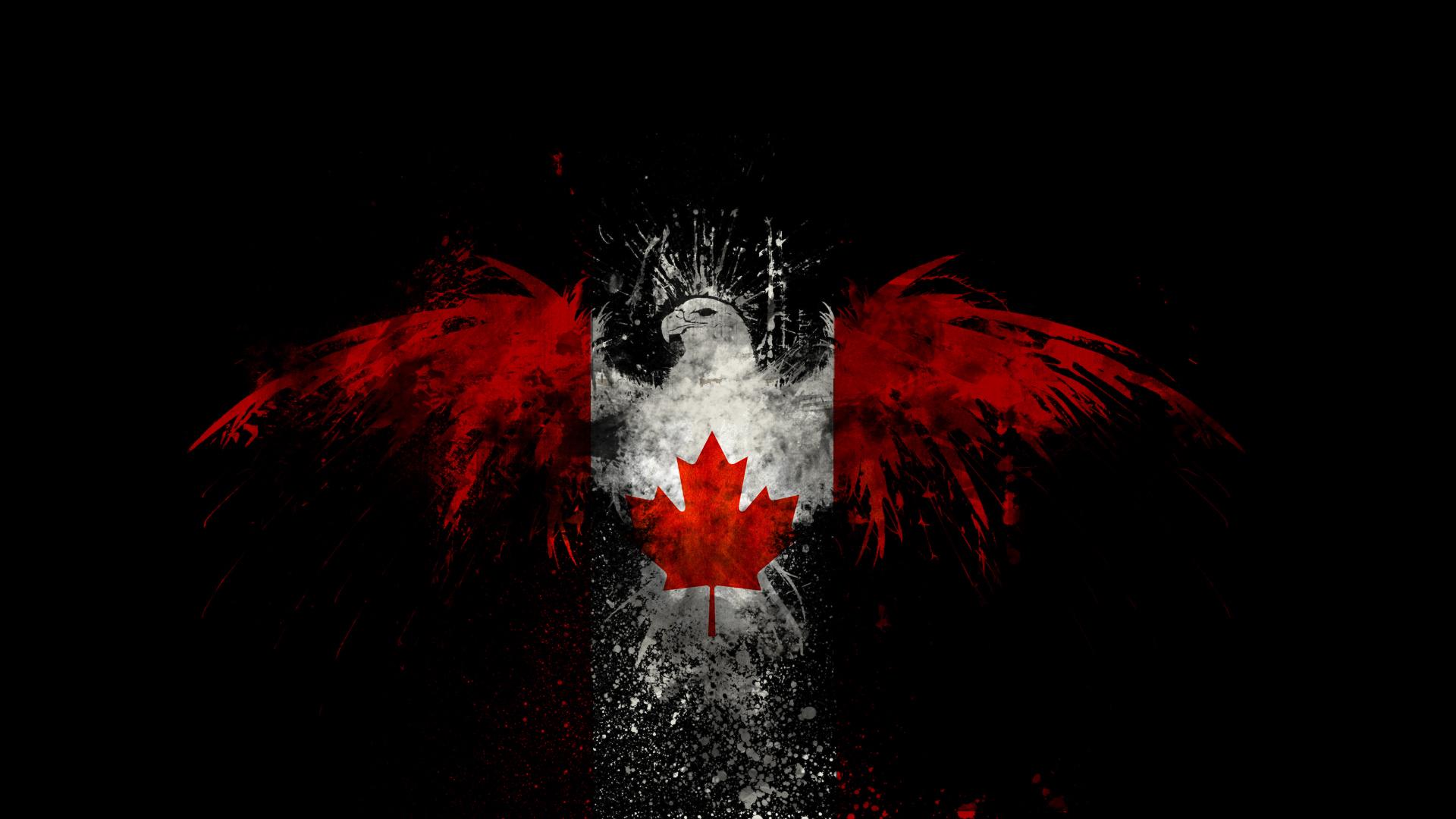 канадский флаг обои для рабочего стола № 506411 без смс