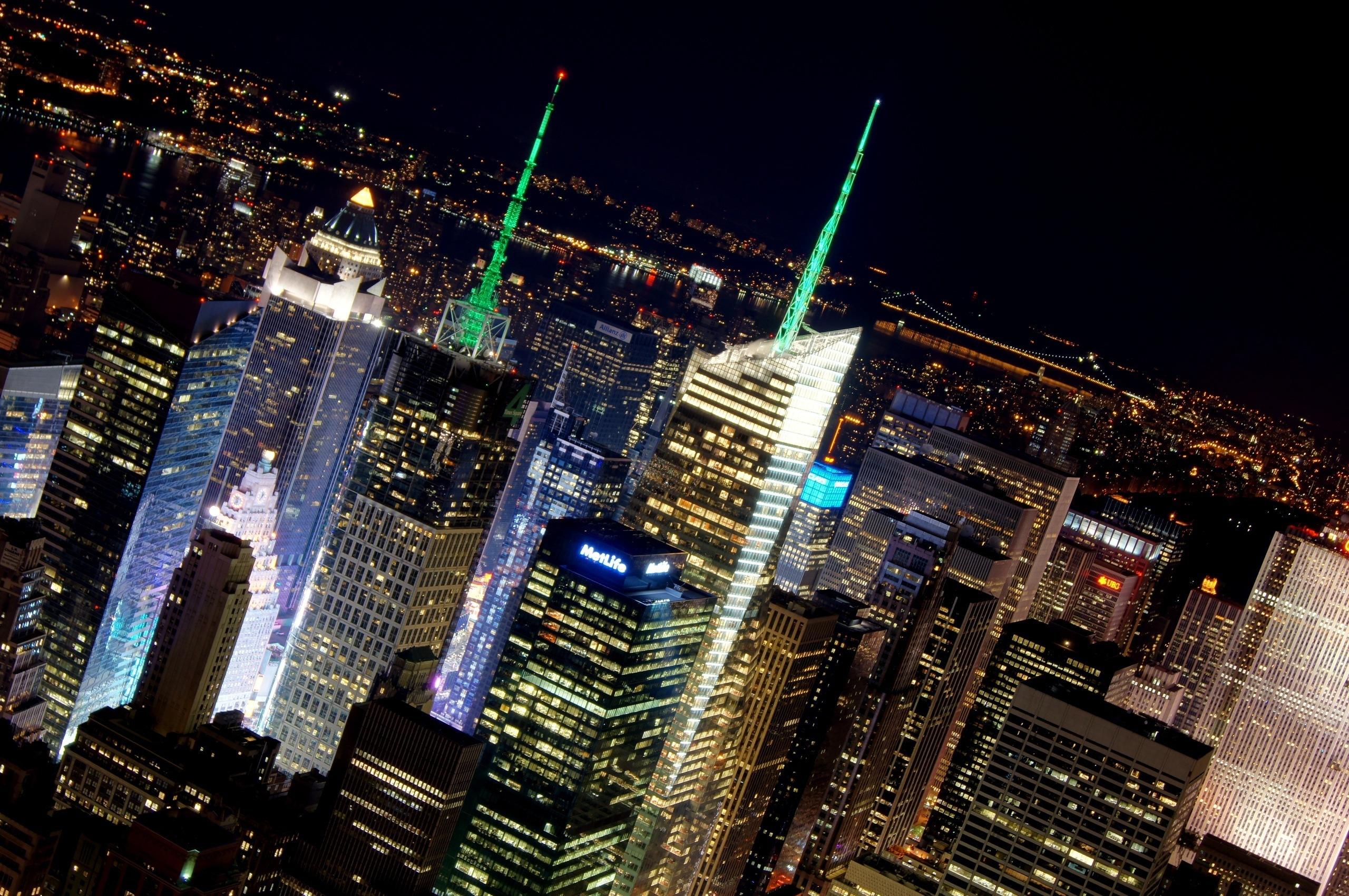 Обои фонари, ночь, люди, сша. Города foto 16