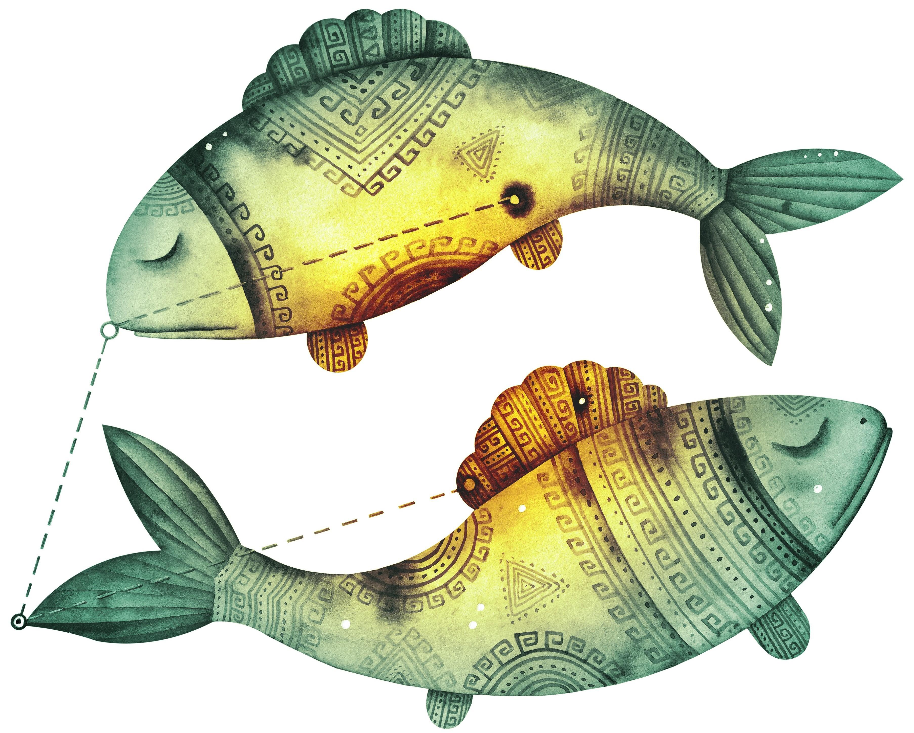 Картинки по запросу знак зодиака рыбы рисунок