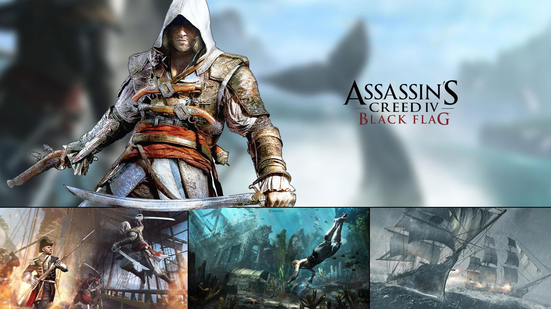 Assassins creed 4 черный флаг картинки, обои для рабочего стола.