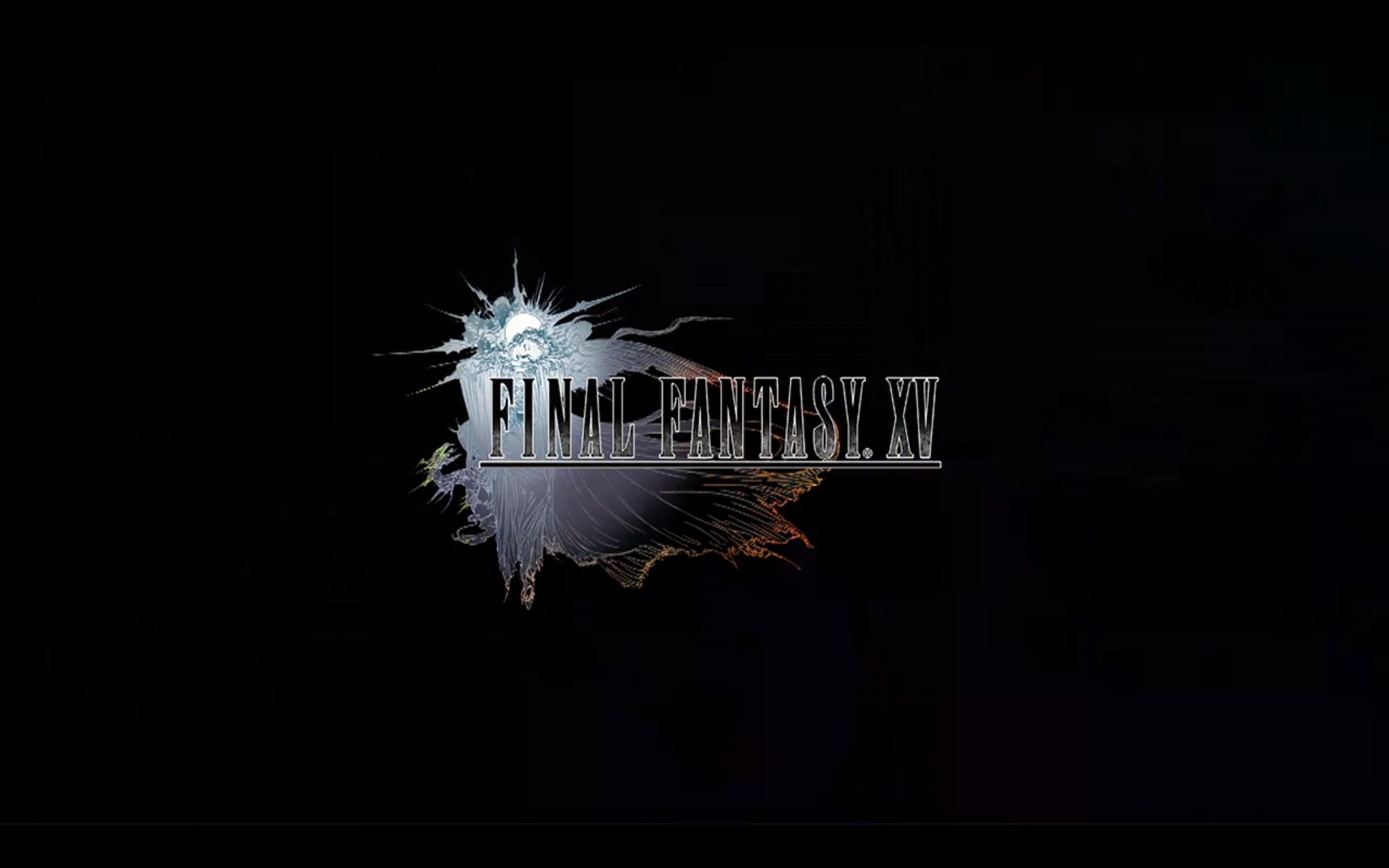 Final Fantasy Xv Logo Uhd 4k Wallpaper: Black Game Logo Final Fantasy XV Wallpapers And Images