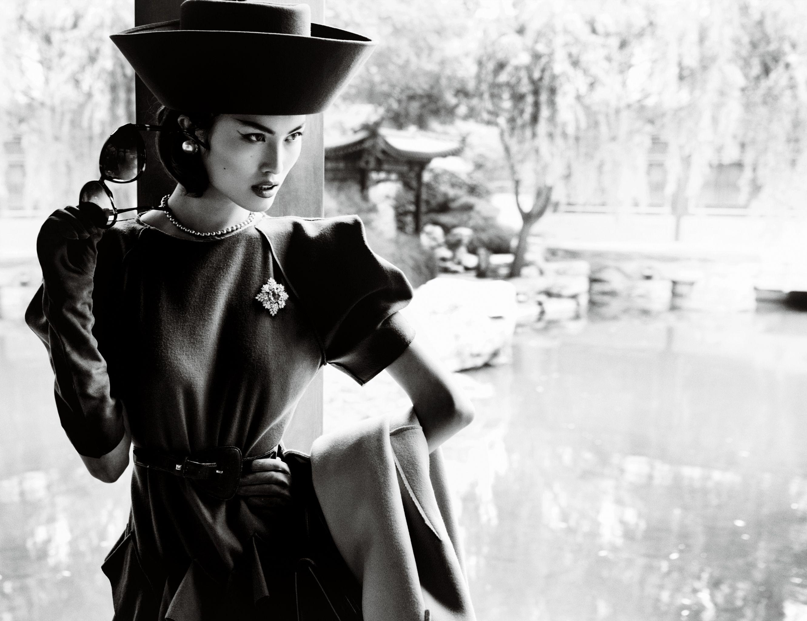 Картинки ретро девушки в шляпе