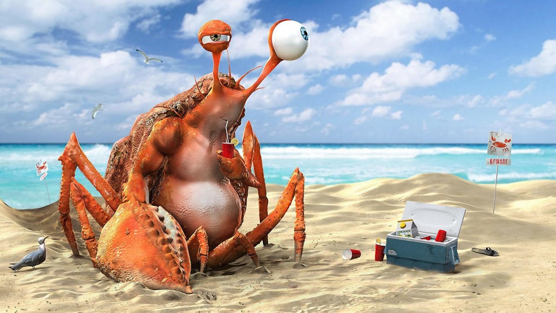 смешные картинки про пляж на море часы