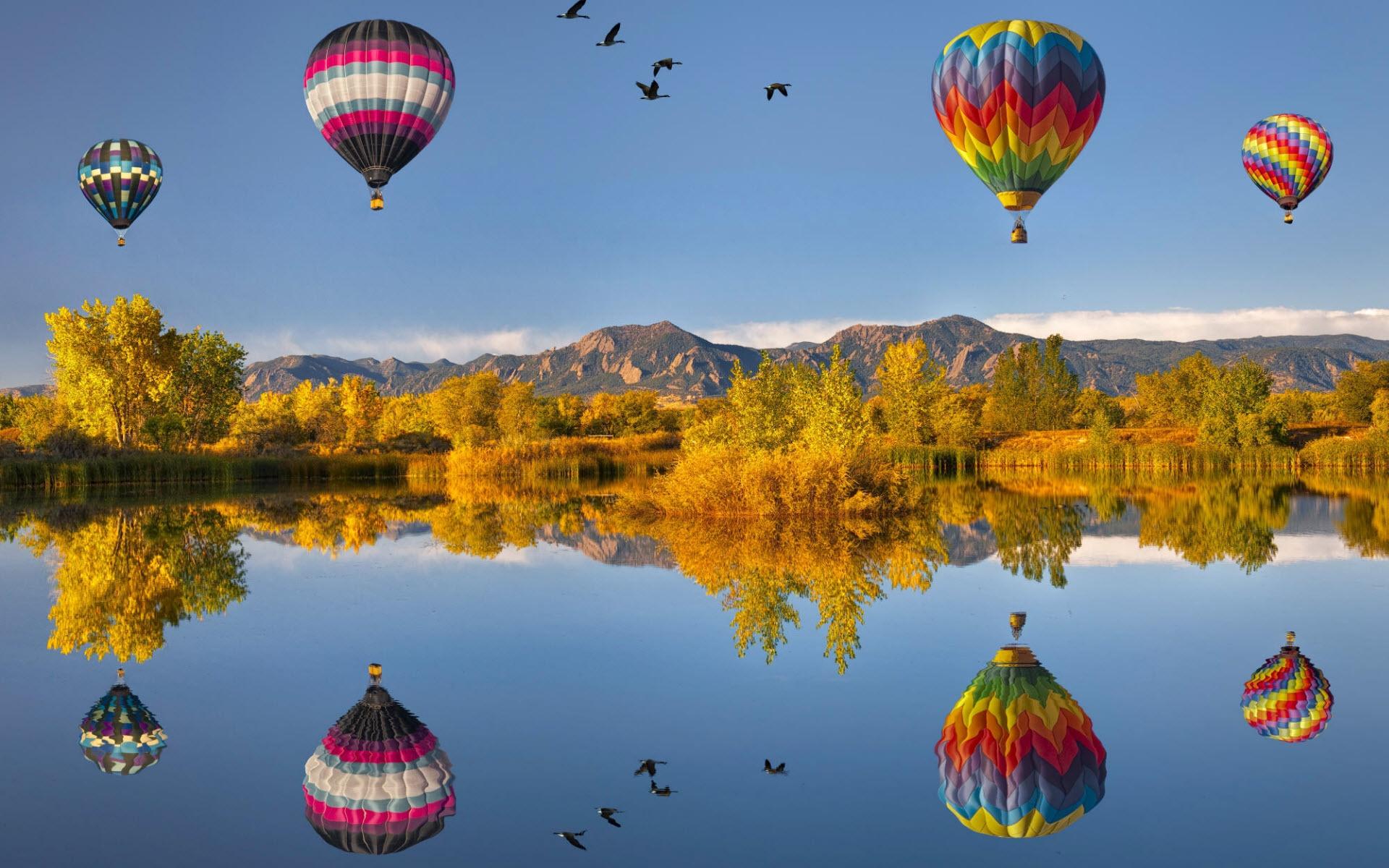 Обои воздушные шары для рабочего стола