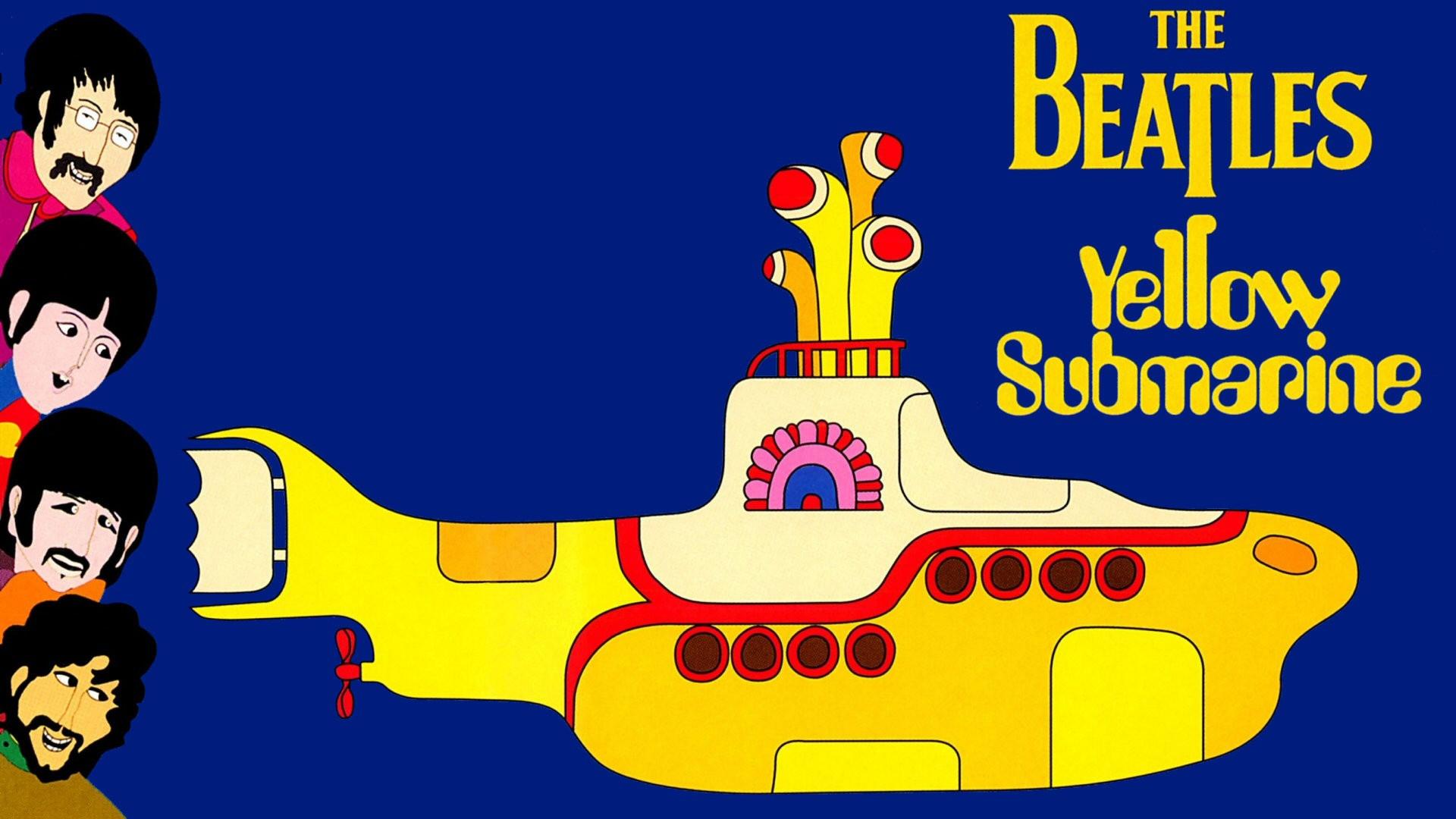 желтая подводная лодка картинка битлз