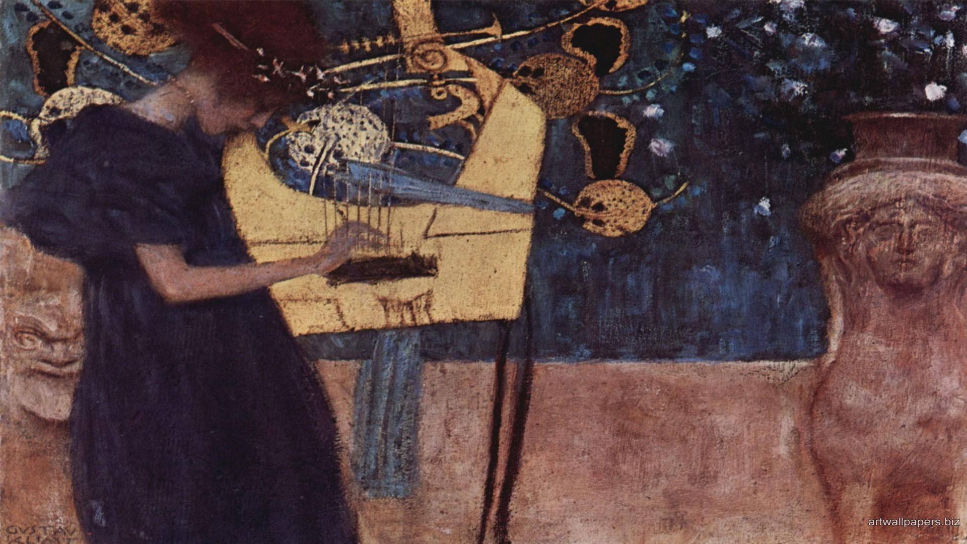 Download Wallpaper Music Painting - Drawn_wallpapers___Paintings_Painting_of_Gustav_Klimt_-_Music_068851_  Perfect Image Reference_73824.jpg