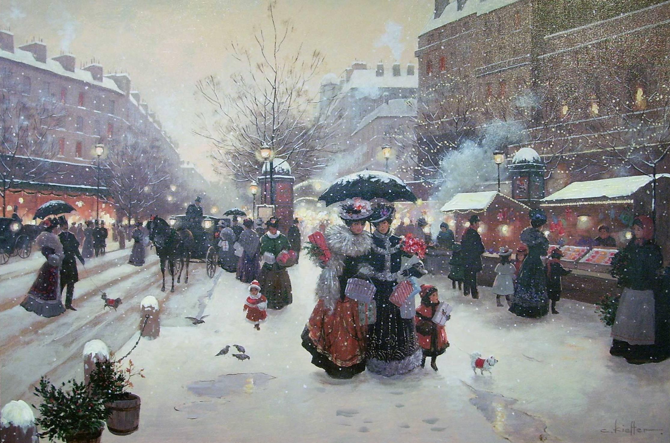 образом, открытка рождество в париже должно
