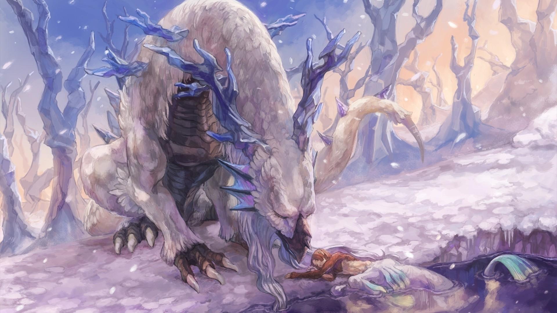 Ice Dragon Desktop Wallpapers 600x382