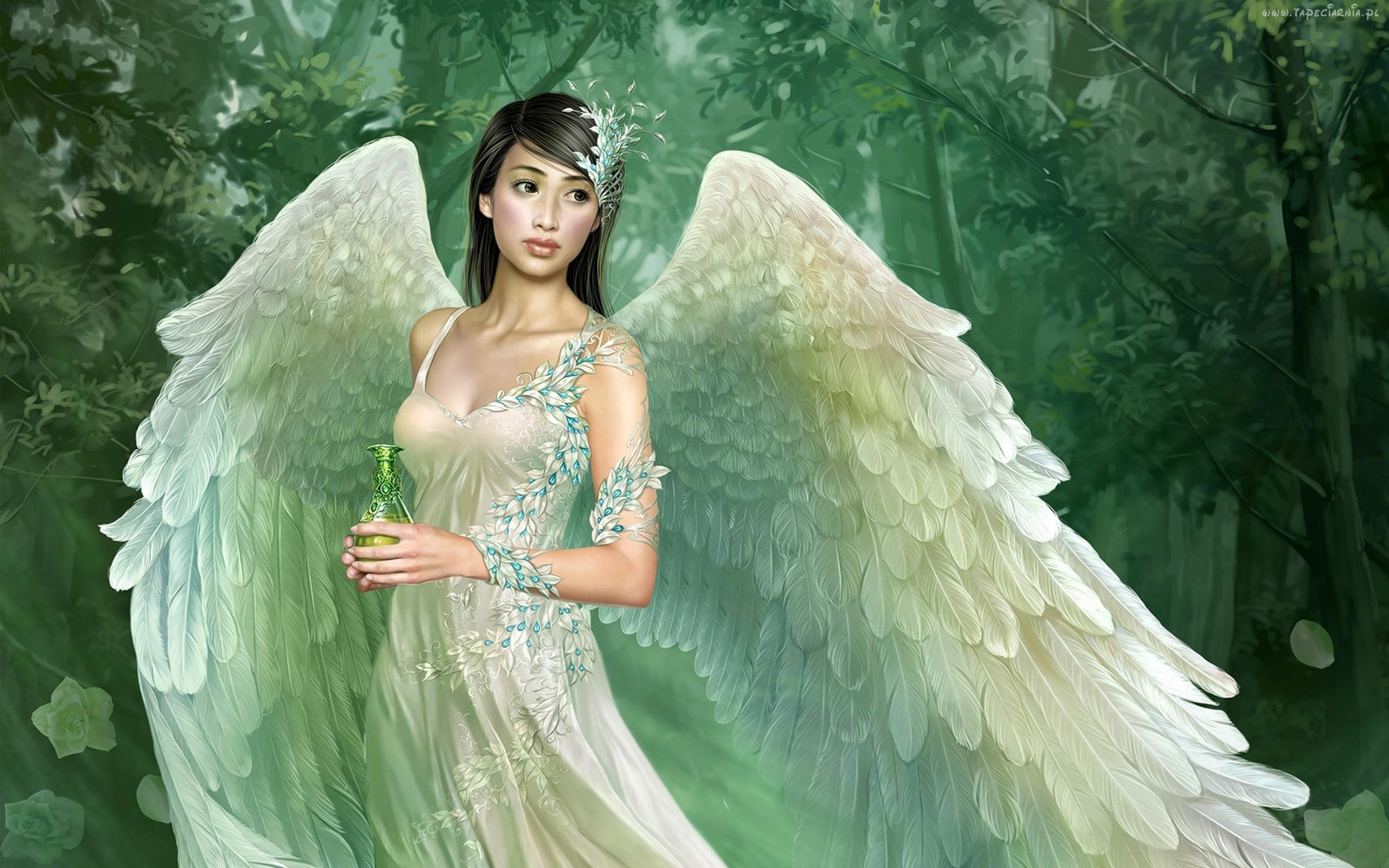 Девушки Ангелы Обои