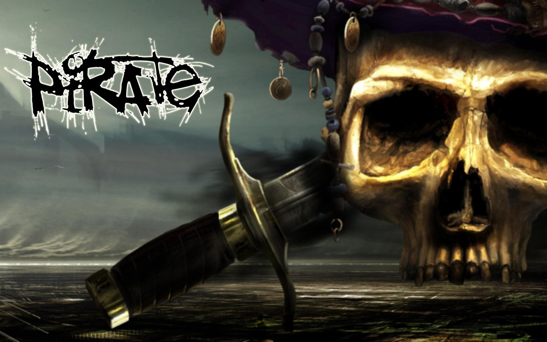 wallpaper skull bones pirate - photo #5