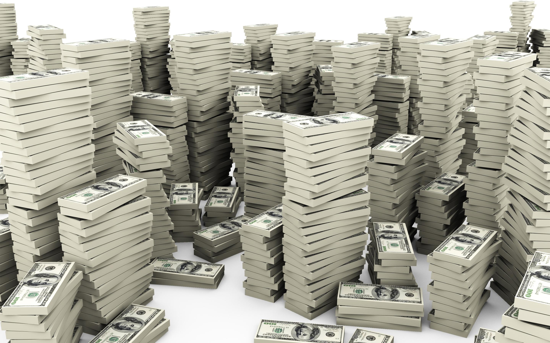 Картинка с горой денег, юбилеем