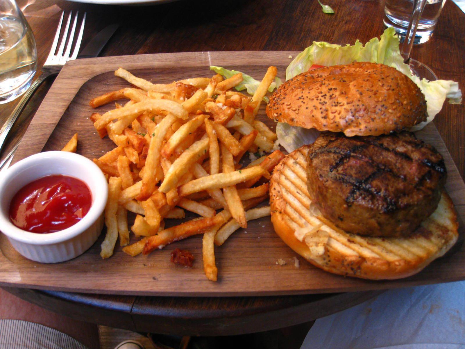 hamburger and fries wallpaper - photo #4