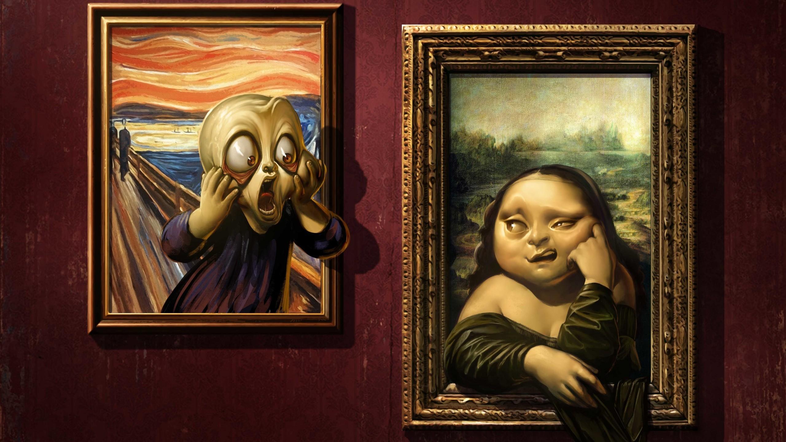 Смешная картинка про искусство, днем