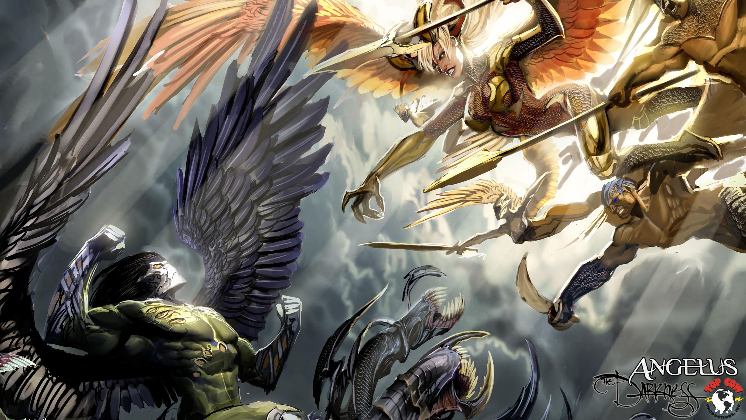Картинки девушки ангел и демон