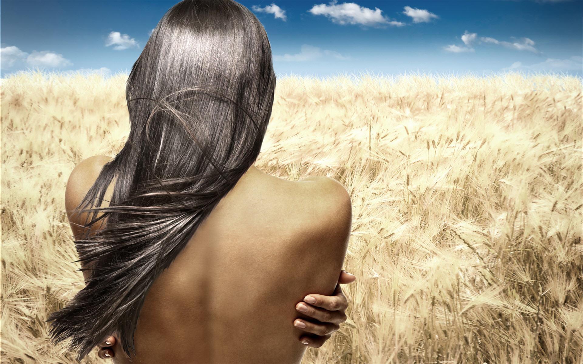 Картинки девушки со спины волосы