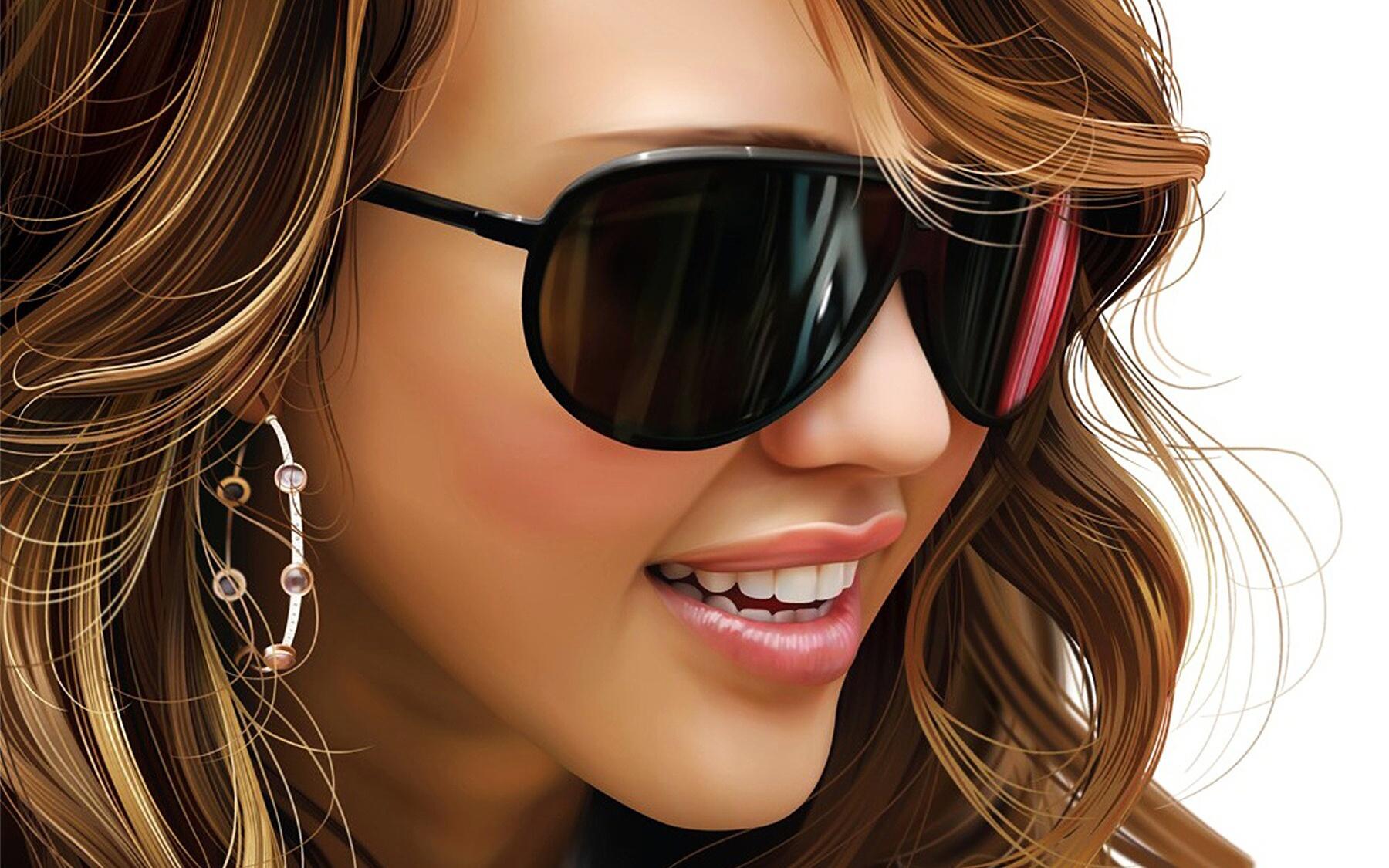 Фото девушки на очках