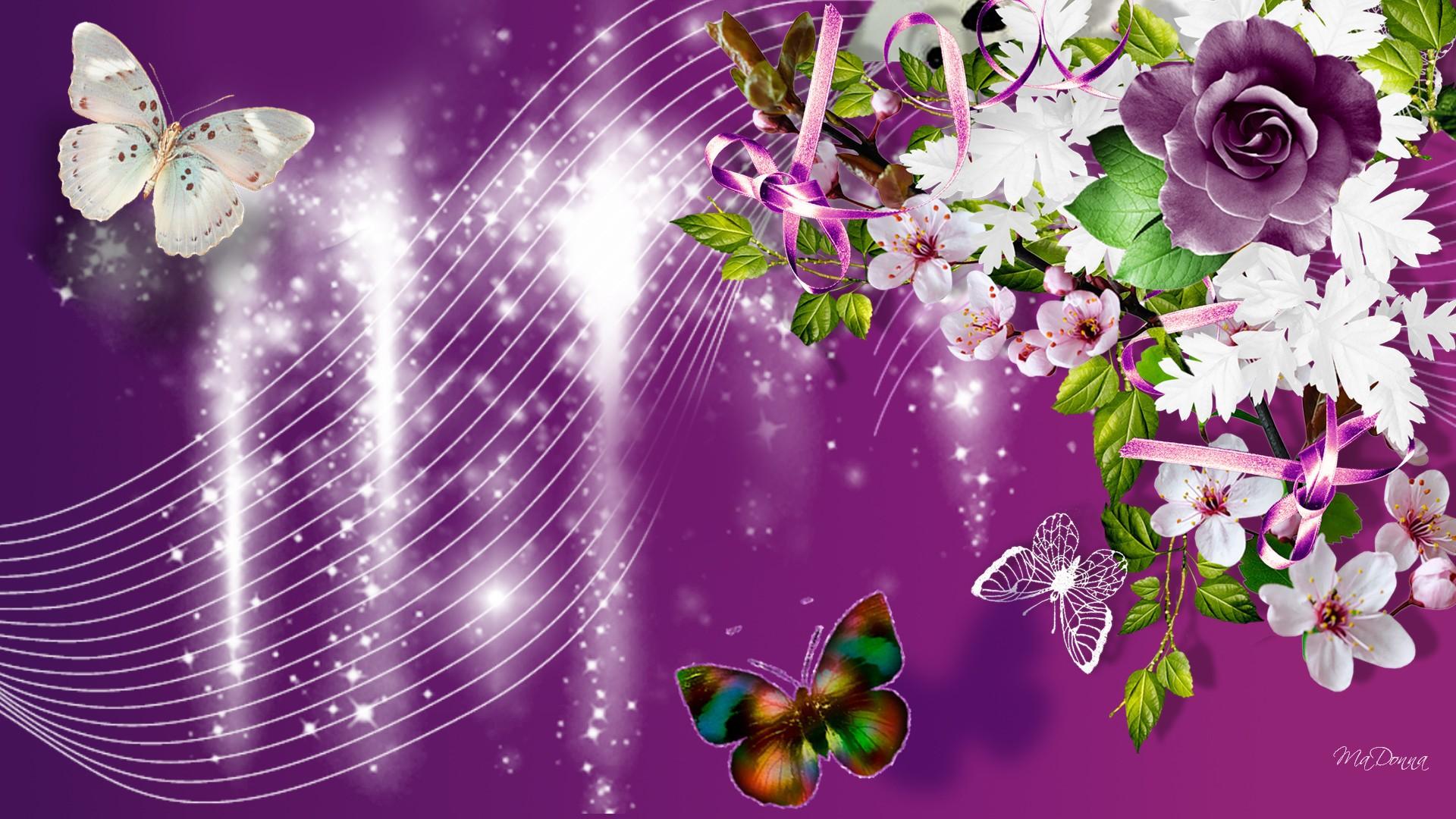 Цветка, живые обои для открытки