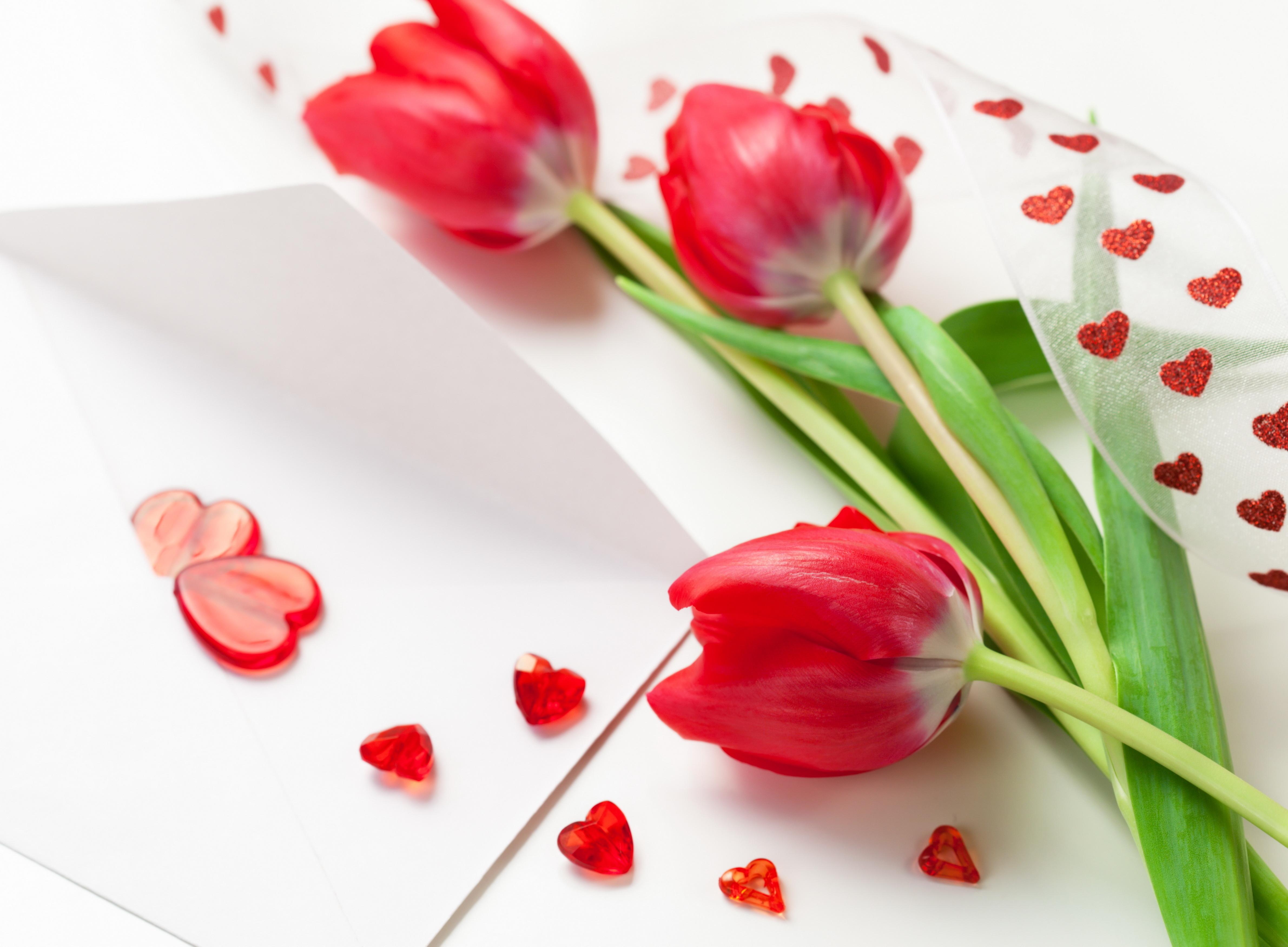 Открытки, картинки тюльпаны на 8 марта