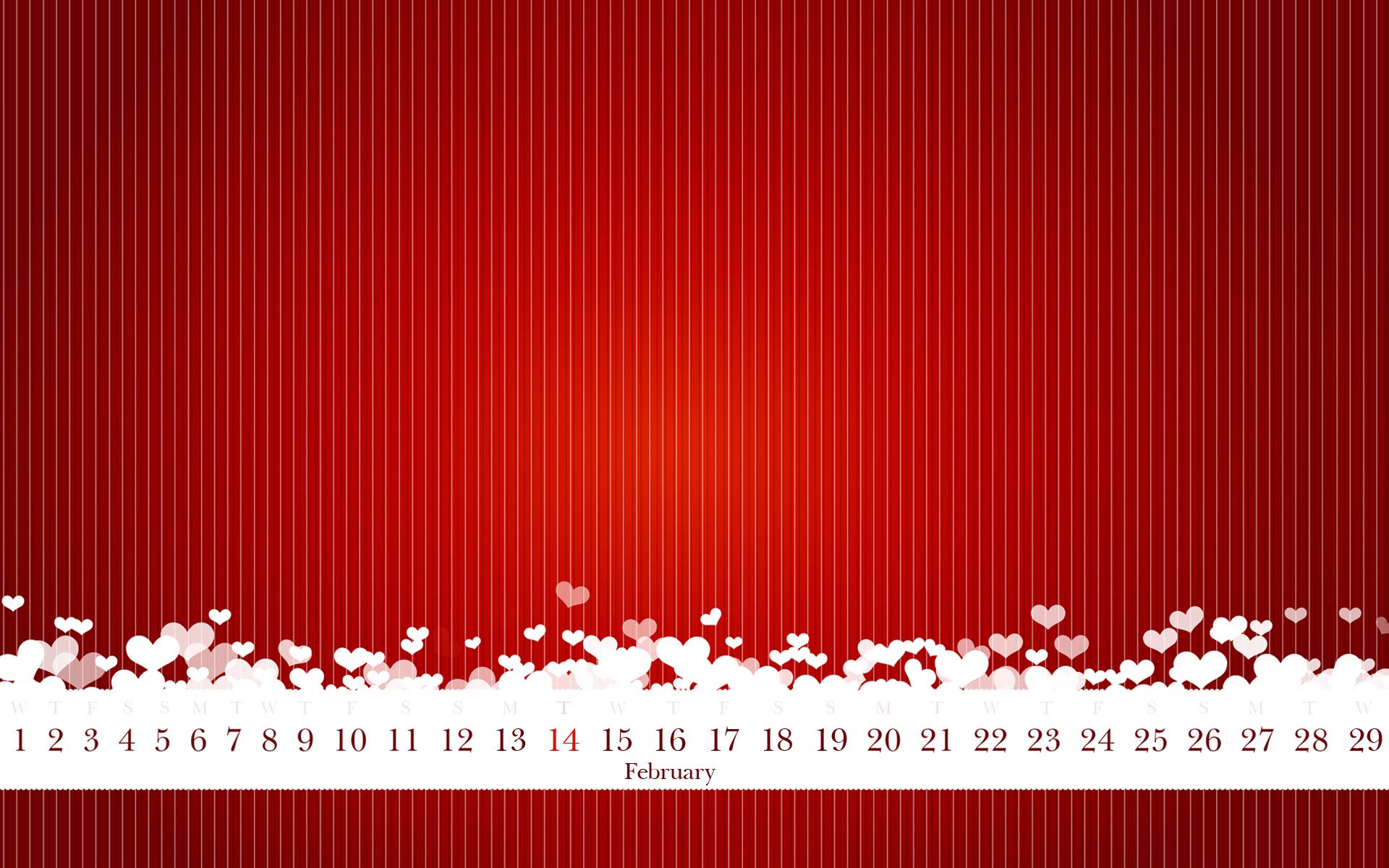 Calendar Background Images : The original calendar for valentine s day february