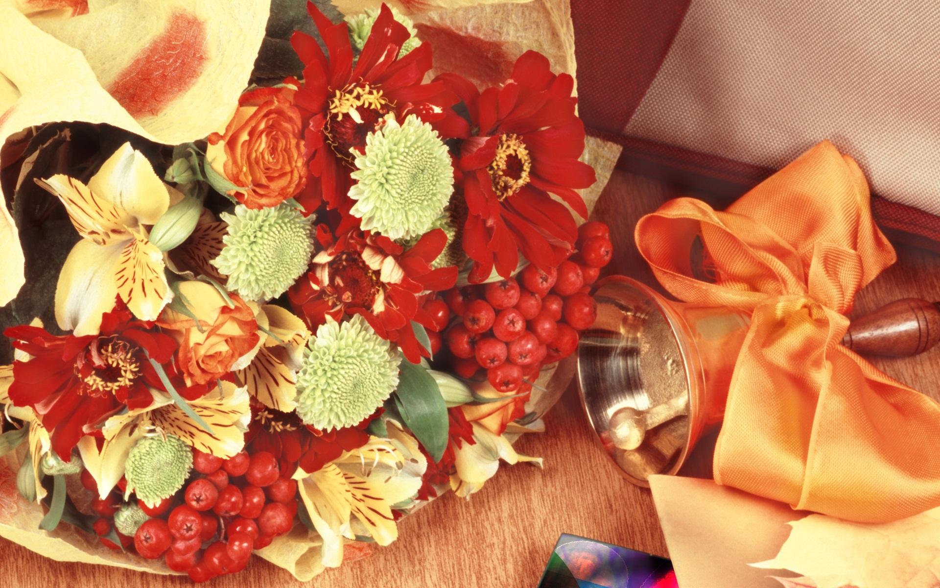 Поздравления, открытки с 1 сентября цветами