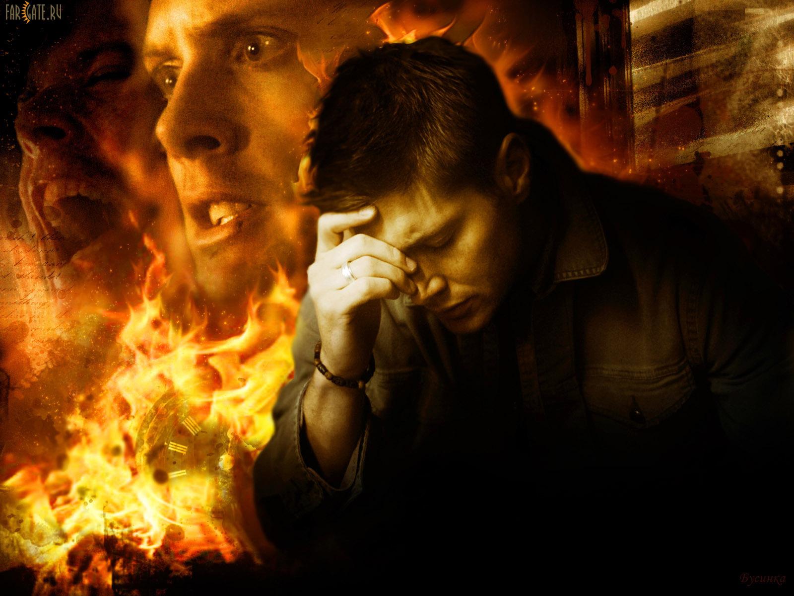 Картинки дина винчестера в аду