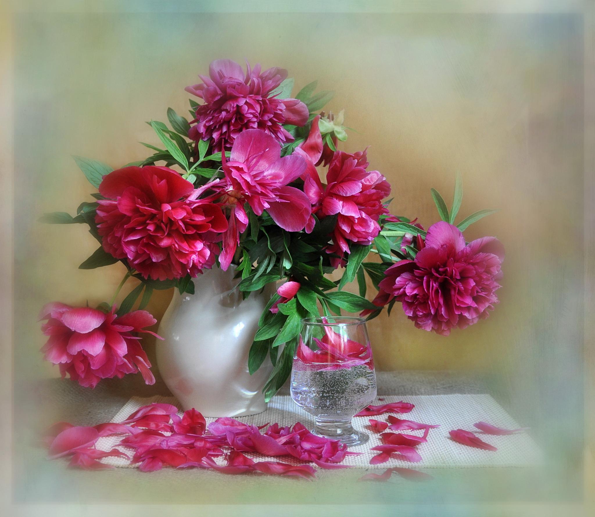 Цветы в вазе картинки открытки, открытка шариками