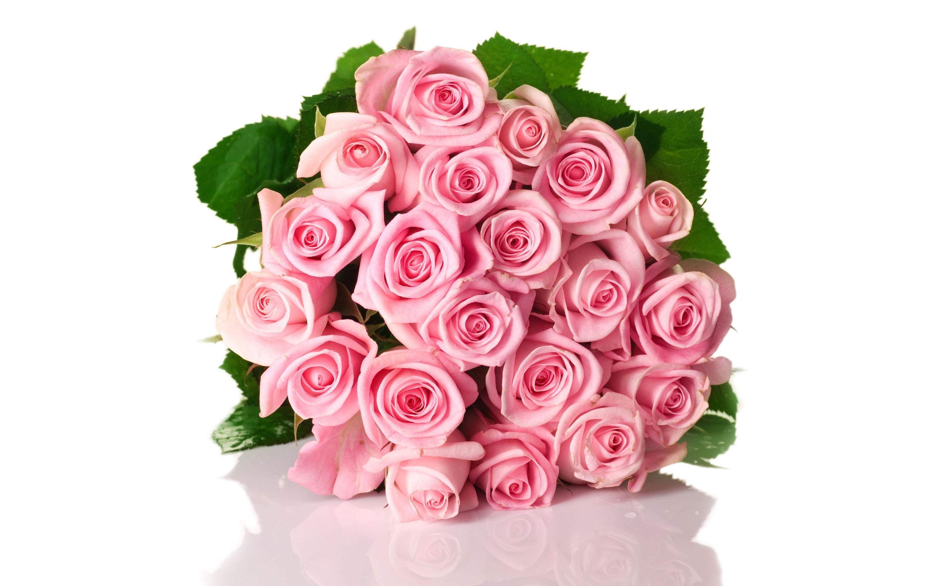 Открытки букеты розовых роз
