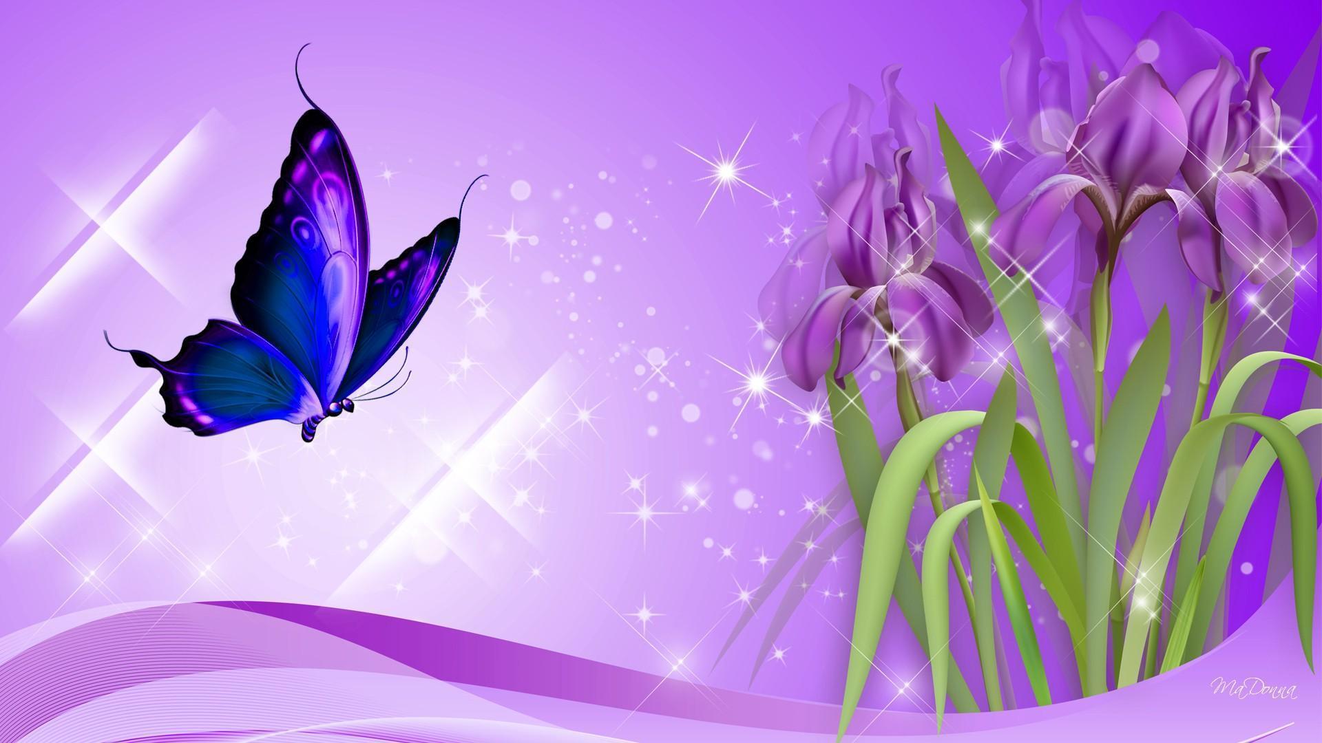 Картинки, фон фиолетовый для открытки с днем рождения