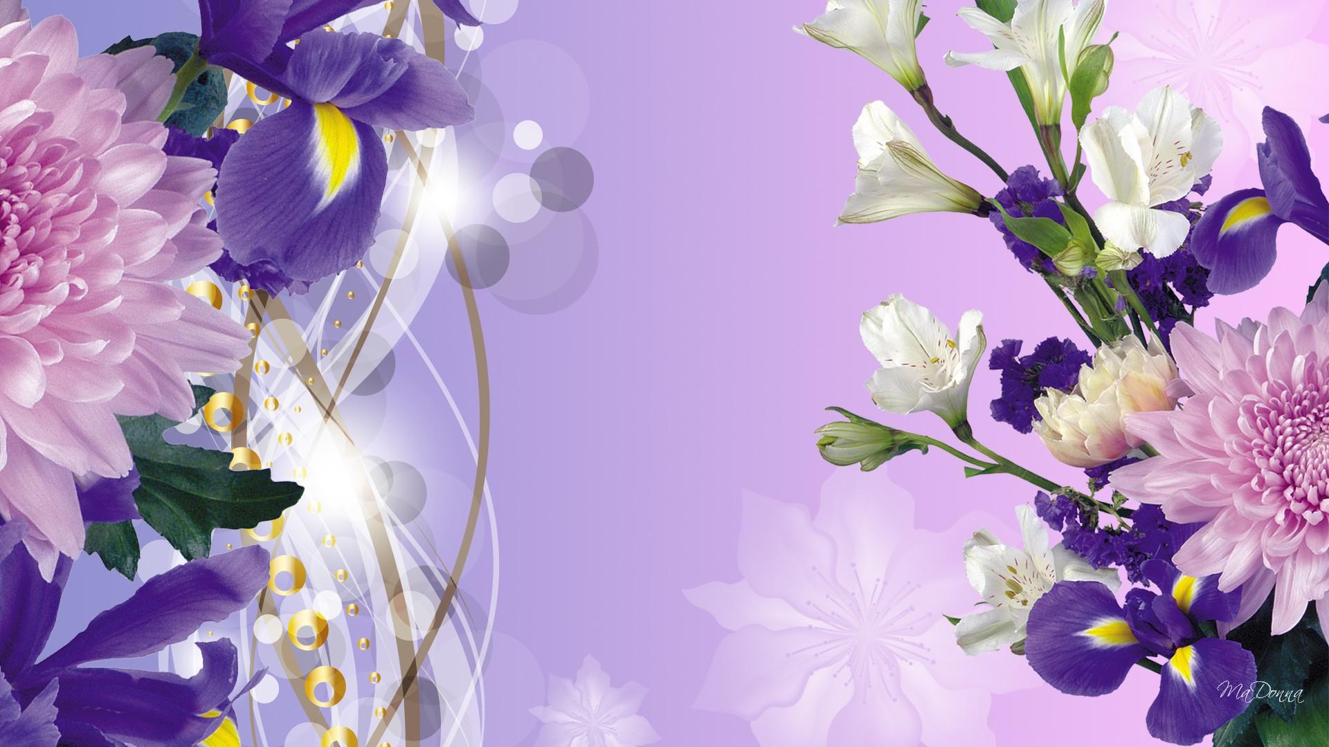 Картинка новым, цветы сбоку на открытку