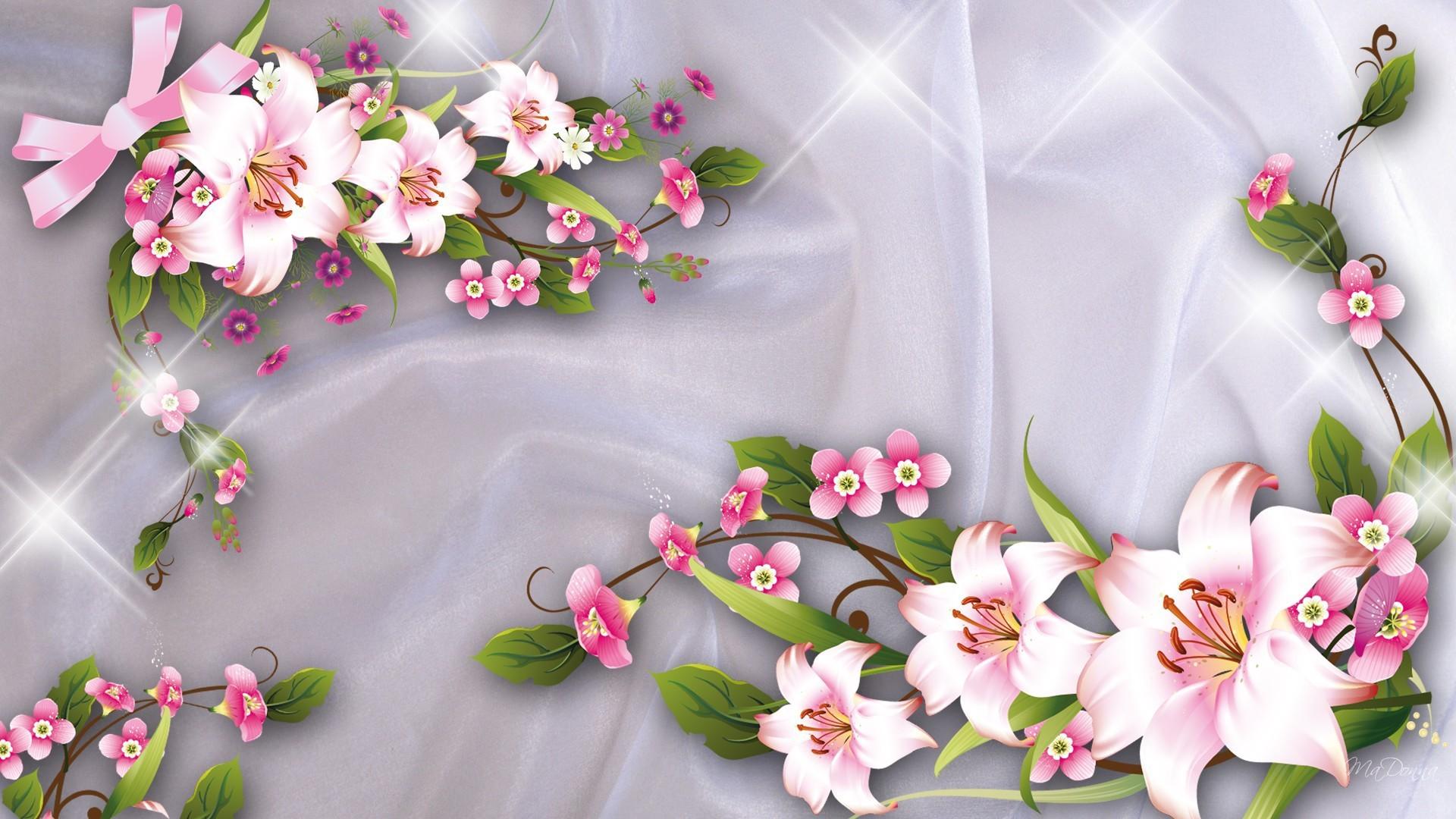 Цветы 3д картинки