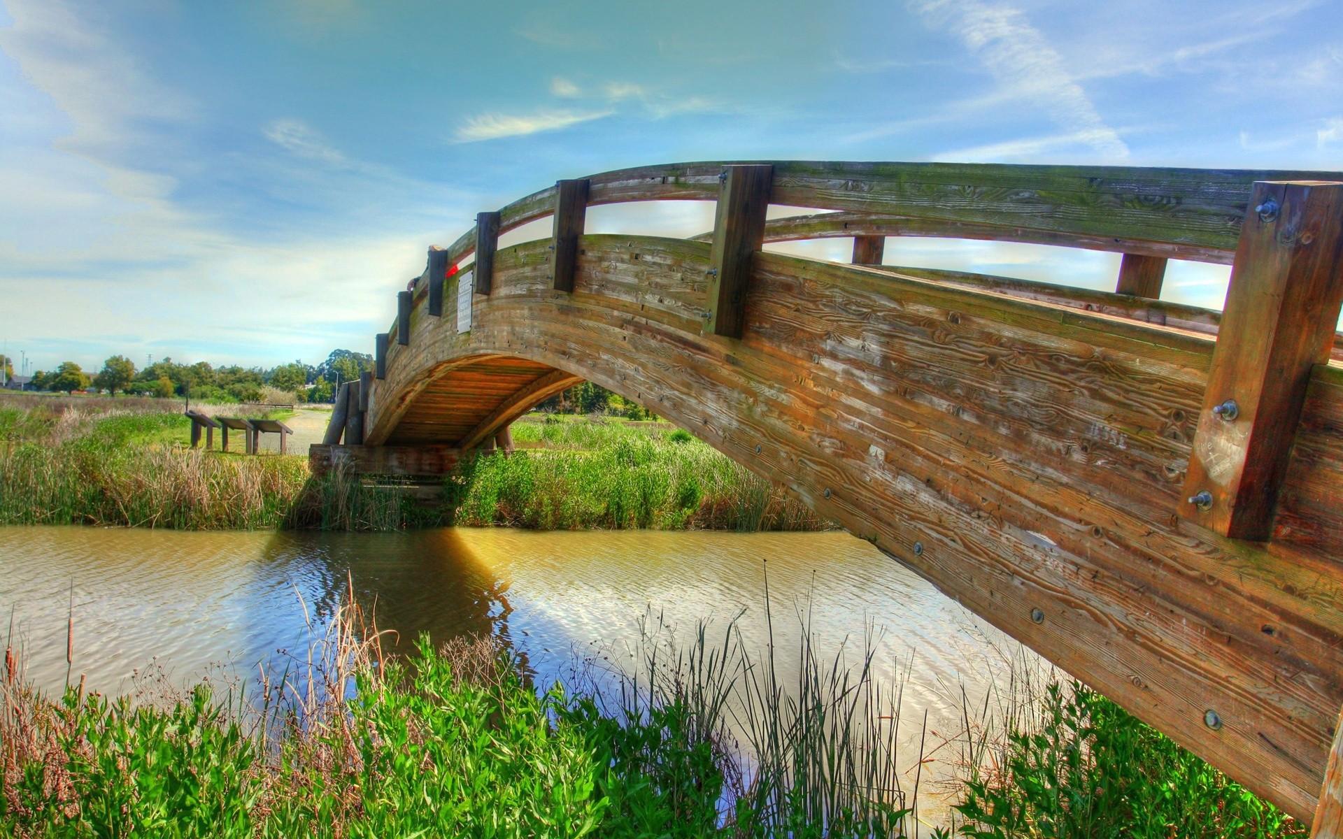 картинки три дома река мост деревья эскимо называлось