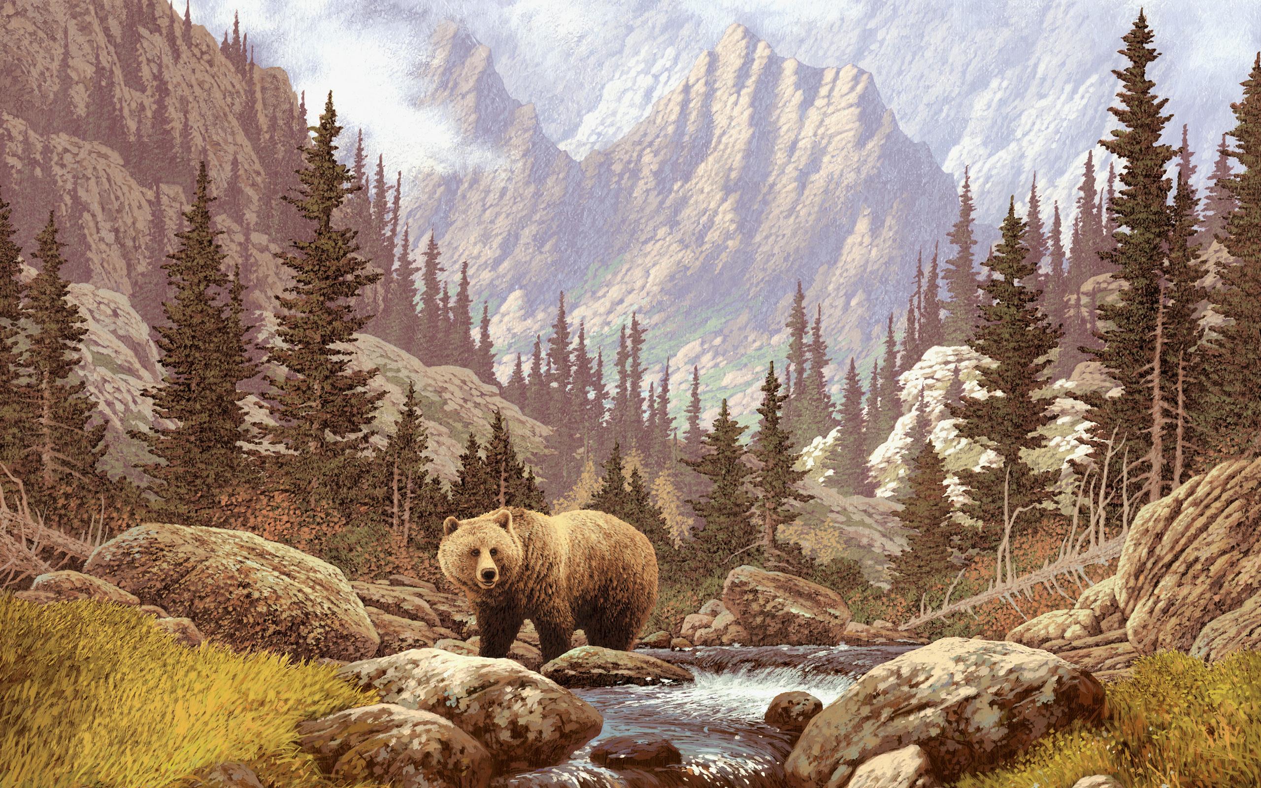 Рисунок медведя на рабочий стол