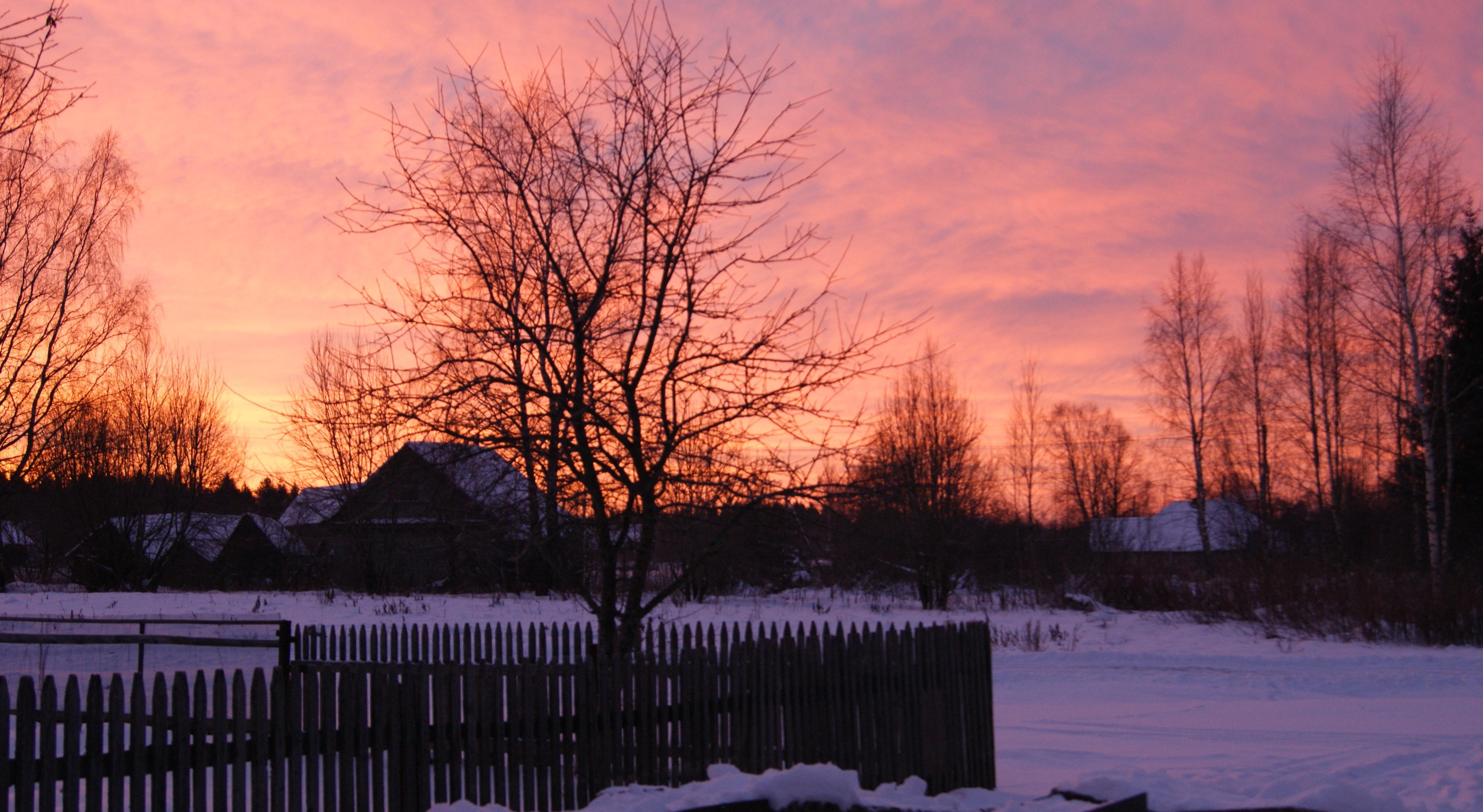 Zastaki.com - Деревня весенним утром