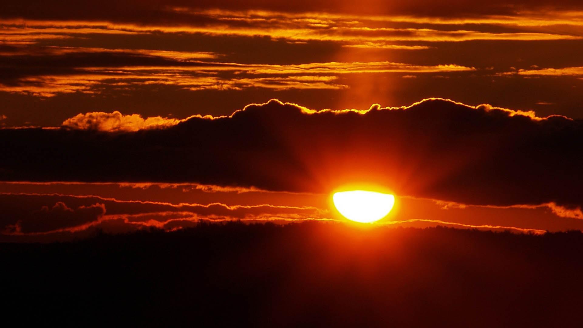 Луна, картинки закат солнца