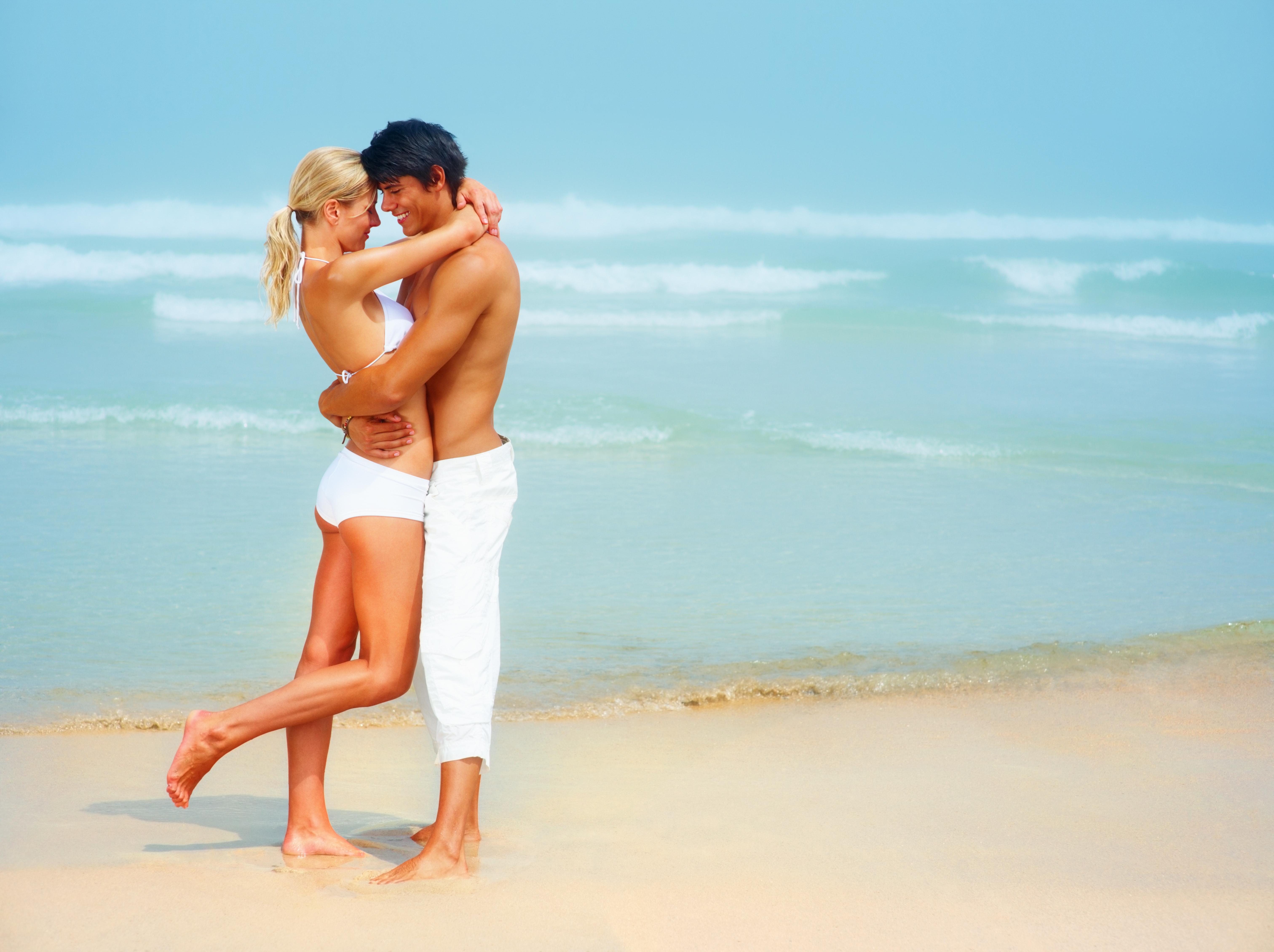 Пары на пляже фото 360-798