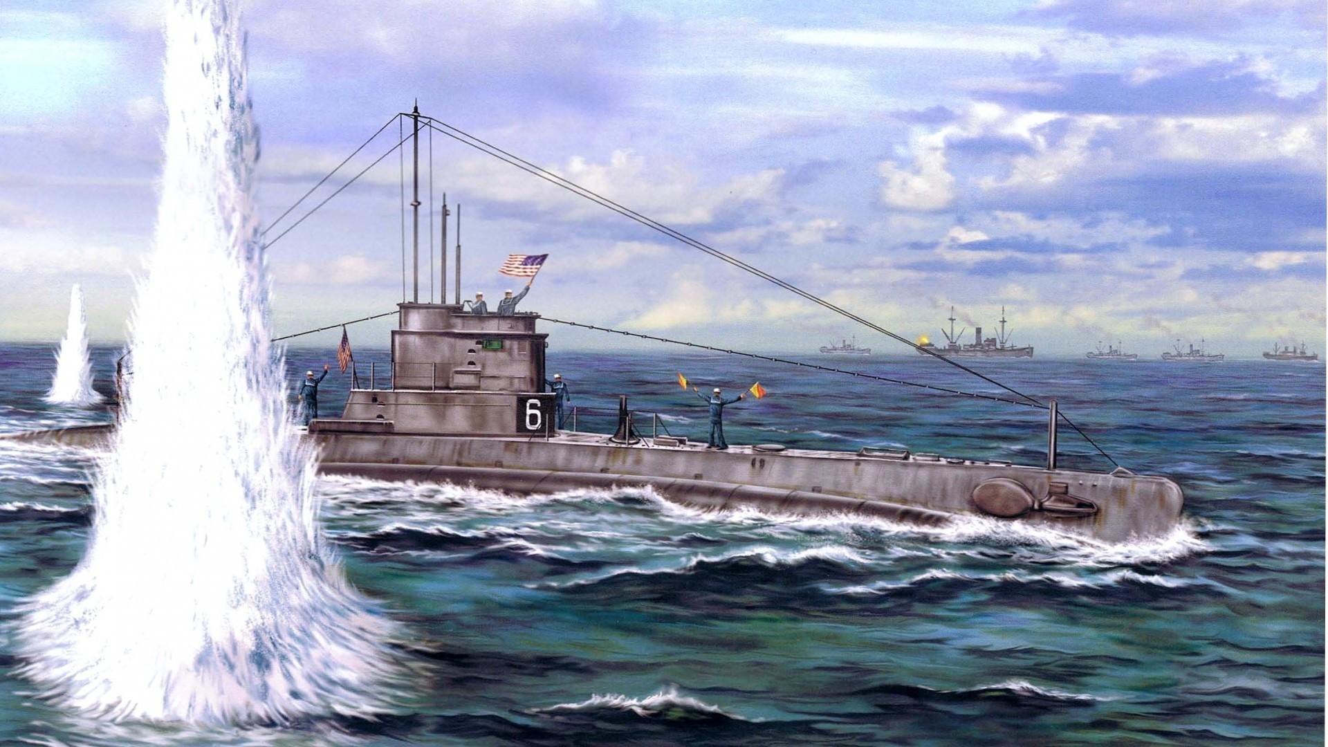 обои немецкая подводная лодка